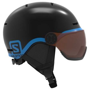 Salomon Grom Visor Casque Enfant, black KS | 49-53cm Casques ski & snowboard