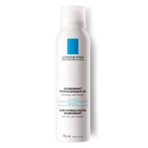 La Roche-Posay Déodorant physiologique 24h - Spray anti-odeurs, anti-humidité