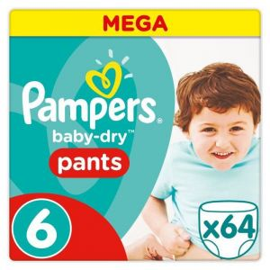 Pampers Baby-Dry Pants taille 6 (15 kg+) - 64 couches-culottes