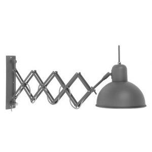 It's About Romi Applique murale accordéon acier mat Aberdeen - gris Diamètre 20 - Longueur 58/82 Hauteur 28 cm