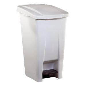 Rossignol (collecte déchets & hygiène) Poubelle mobile Basic à pédale en plastique (60 L)