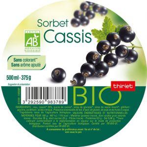 Thiriet Crème glacée cassis, Bio - Le pot de 500ml