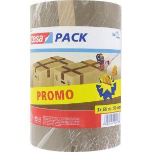 Tesa Adhésif d'emballage polypropylène vg 66 x 50 lot de 3 rouleaux -