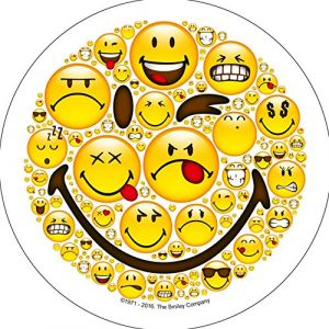 Disque en sucre Smiley 21 cm