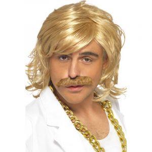 Smiffys Déguisement Perruque et Moustac Blonde Game Show Taille Unique