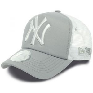 A New Era Casquette Clean Trucker MLB NY Gris/Blanc
