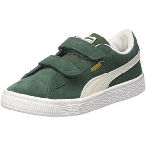 Puma Suede Classic V PS, Sneakers Basses Mixte Enfant, Vert (Pineneedle White), 33 EU