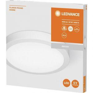 Ledvance PLANON ROUND Dalle LED Montage en Surface   Applique / Plafonnier   Blanc   Diamètre 60cm   48 Watts - 4100 Lumens   Blanc Chaud 3000K