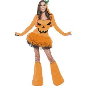 Déguisement citrouille sexy femme Halloween (taille L)