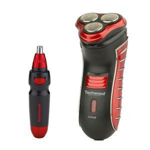 Techwood TRZ-985 - Rasoir électrique rechargeable + Tondeuse nez
