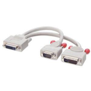 Lindy 41008 - Câble splitter DVI-I à DVI-D + VGA