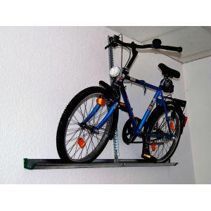 EUFAB Porte vélo mural sur rail en acier