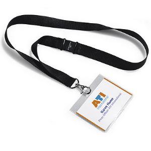 Durable 8600-01 - Badge avec lacet textile 20 (90 x 60 mm)