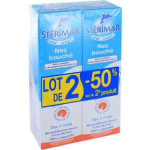 Stérimar Nez bouché - 2x100 ml spray nasal