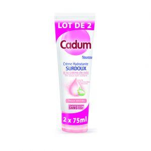 Cadum Lait corps hydratant, surdoux à la crème de talc, peaux sèches - Lot de 2