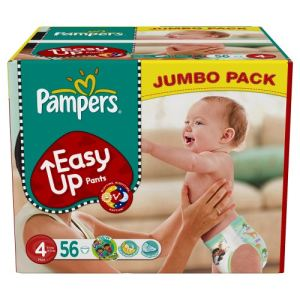 Pampers Easy Up taille 4 Maxi (8-15 kg) - Jumbo pack x 56 couches culottes