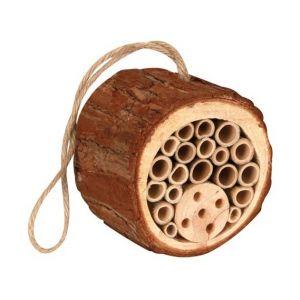 Perel Hôtel à insectes en bois rond