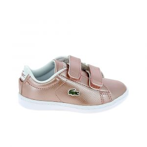 Lacoste Chaussure bebe carnaby evo bb rose blanc 25