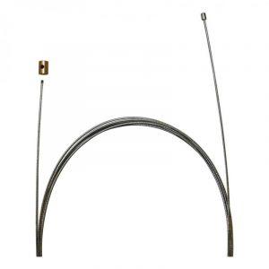 1tek origine CABLE D'ACCELERATEUR Cable de gaz universel 3x3 Diam 1,2 Lg 2,50 m (Kit cable + serre cable) P2