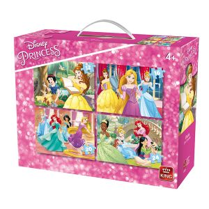 King International 4 puzzles Disney Princesses (12 à 24 pièces)