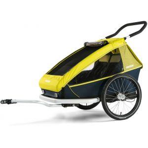 Croozer Kid For 2 - Remorque vélo - jaune/noir Remorques pour enfant