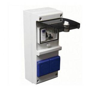 Debflex Coffret atelier étanche IP65 Inter-Diff + disjoncteur + prise