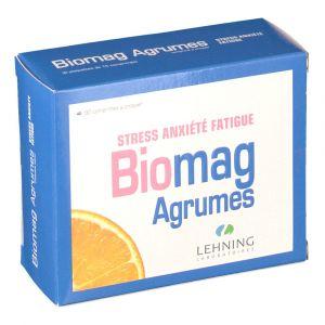 Lehning Biomag Agrumes - Troubles anxiété, stress et fatigue (90 comprimés)