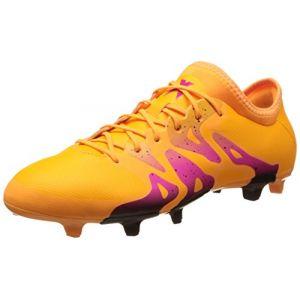 Adidas X 15.2 FG/AG, Chaussures de Football Homme, Orange/Noir/Rose (Dorsol/Negbas/Rosimp), 44 EU