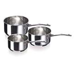 Beka 3 casseroles Chef en inox 16 cm, 18 cm et 20 cm