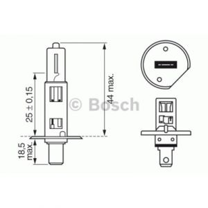 Bosch Lampes 1987302011 LPE H1 PURE LIGHT12V X1