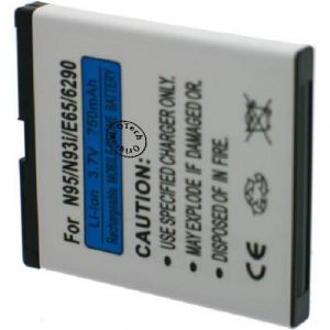 Otech Batt pour NOK N95/N93/E65 3.7V L7/10 - Garantie 1 an