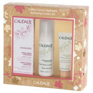 Caudalie Cocoon Hydratant - Coffret crème sorbet hydratante, mousse nettoyante et masque-crème hydratant