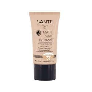 Sante Naturkosmetik Fond de teint liquide effet Mat 02 Sand