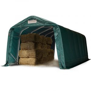 Image de Intent24 Tente de pâturage 3,3x7,2 m, PVC d'env. 550g/m² d'épaisseur, vert foncé, terre