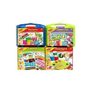 Joustra 4 activités créatives : pochoirs, gommettes, timbres et peinture