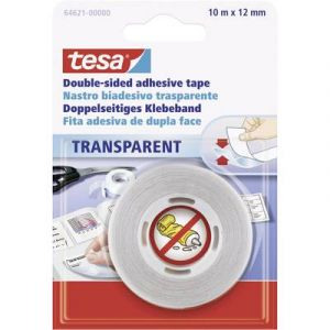 Tesa Ruban adhésif double-face 64621-00-04 transparent (L x l) 10 m x 12 mm 1 rouleau(x)