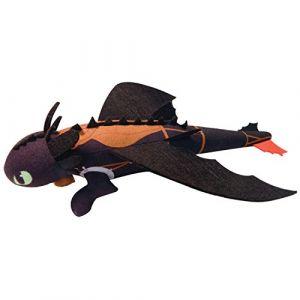 Spin Master Peluche Dragon à lancer Krokmou effets sonores rugissants 35 cm