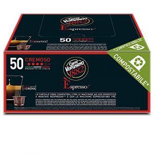 Caffe Vergnano Pack de 50 Capsules Compatibles Nespresso Espresso Cremoso Caffè 7,4 g