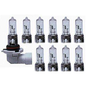 10 Ampoules HB3 9005 - 12V 65W 3300K - P20D - Americaines