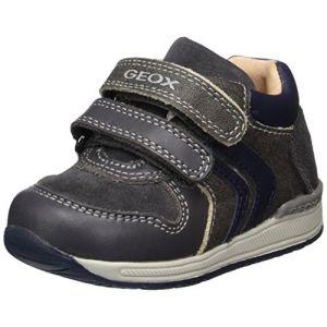 Geox B Rishon A, Sneakers Basses bébé garçon, Gris (Grey/Navy), 23 EU