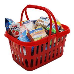 Chr. Tanner Panier de courses enfant tendance garni Le petit marchand rouge
