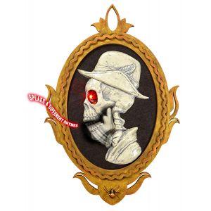 Cadre portrait gentilhomme squelette amovible et l ineux 32 x 48 cm