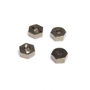 Maxam 451717-102042 - Hexagones de roues alu x 4 pièces 1/10
