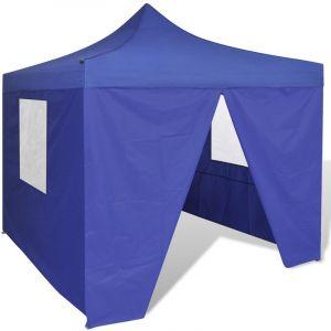 VidaXL Tente pliable bleue avec 4 parois
