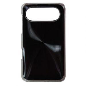Coque metal strie noire HTC desire HD 7
