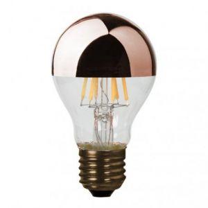 Ampoule LED intensité variable (D.6cm) calotte cuivrée (E27)
