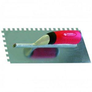 Taliaplast PLATOIR A COLLE - INOX - DENTS CARRÉES 6 X 6 + PORTE PLATOIR - SOFOP 440105