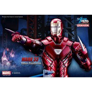 Dragon models DM38123 - Figurine Iron Man 3 Mark Xxxiii Silver Centurion Action Vignette