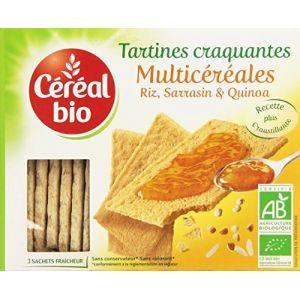 Céréal bio Tartines craquantes multicéréales - La boîte de 145g