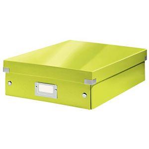 Leitz 6058-00-64 - Boîte de rangement Click & Store, moyen format avec compartiments, en PP, coloris vert métallique